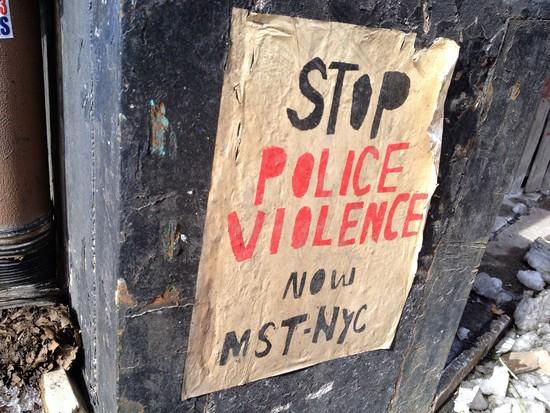 "Plakat ""Stoppt Polizeigewalt"""