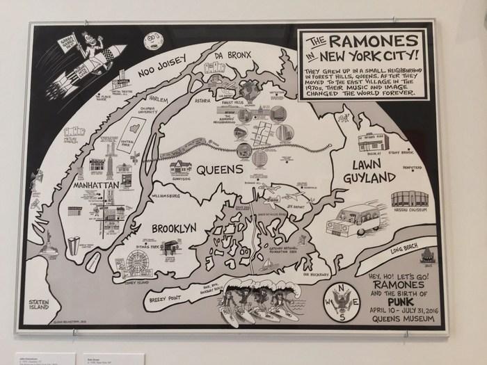New York Karte in Punk Ramones