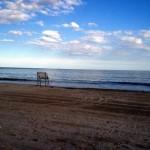 Feierabend am Strand in New York