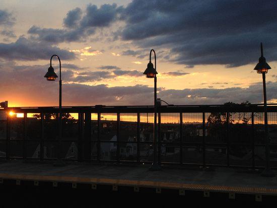 Sonnenuntergang in Rockaway