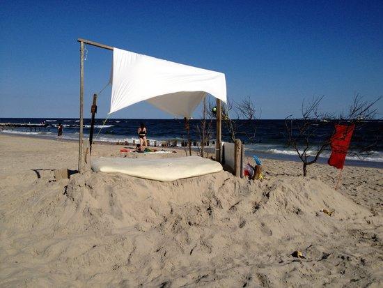 Strandbett in Fort Tilden