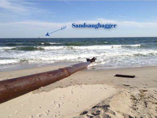 Pipeline und Sandsaugbagger