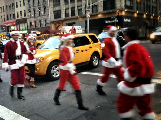 Santa Weihnachten in New York