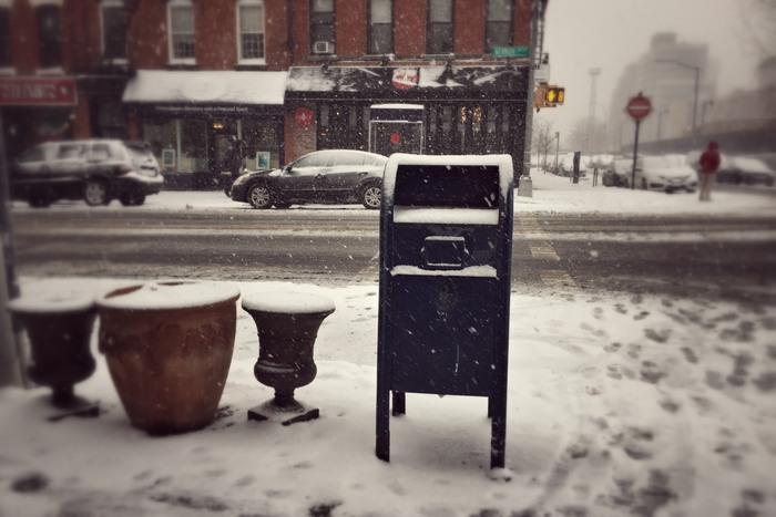 Der erste richtige Schnee im Januar 2017 in Queens