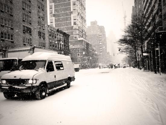 Upper East Side im Schnee - nicht geräumt!
