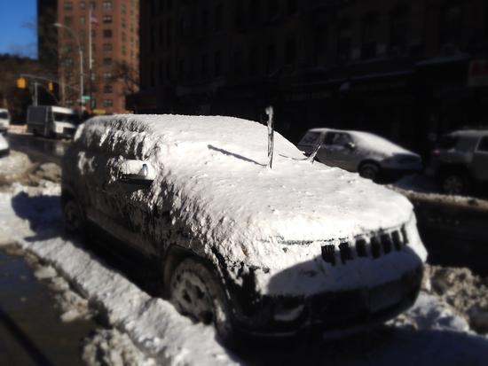 Schnee Januar 2014 New York Central Park