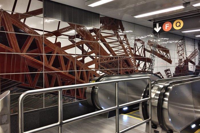 U-Bahn-Haltestelle 63rd Street New York