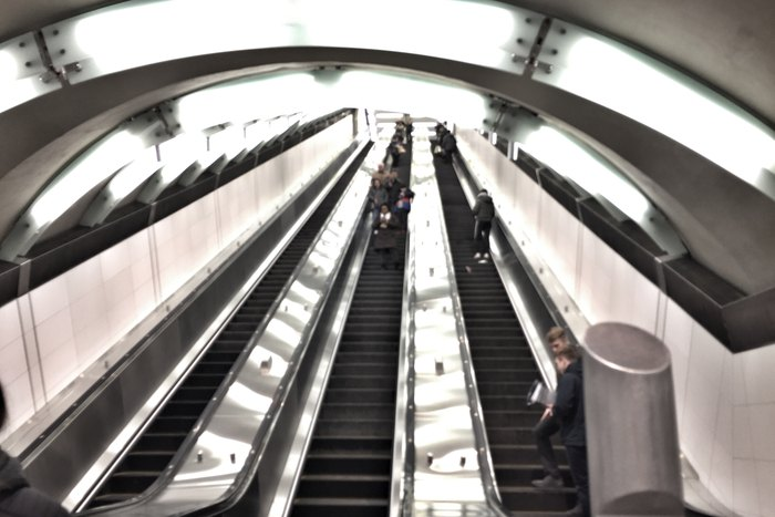 Second Avenue Subway Rolltreppe