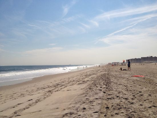 Sommerwetter am Strand in New York