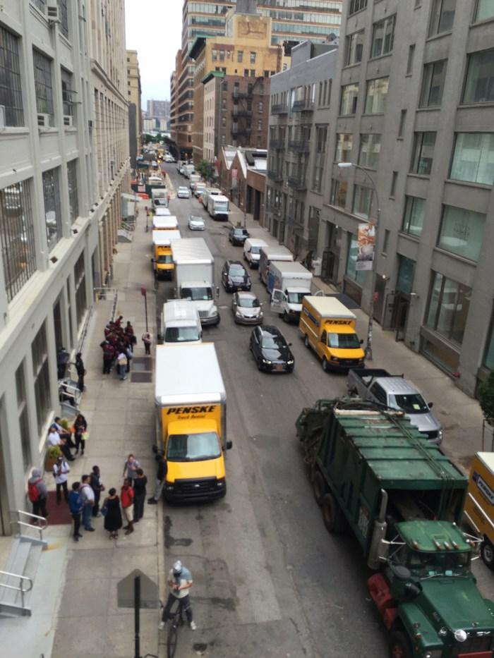 Rush Hour Manhattan Lieferwagen Stau