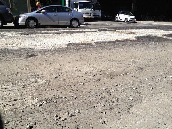 offene Straße in Manhattan