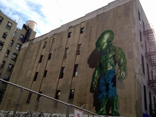 Streetart: Das grüne Baby von Chinatown