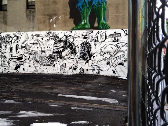 Streetart von Ron Weiss in Chinatown New York