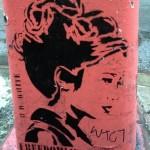 Stencil Streetart von B. D. White in New York
