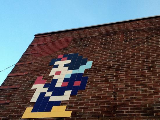 Pixelmann auf der Lower East Side