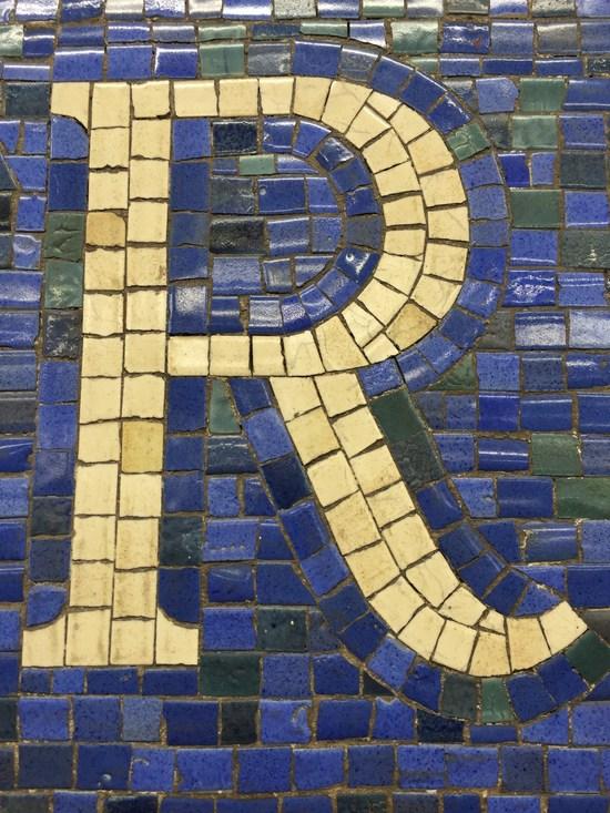 U-Bahn-Mosaik Buchstabe