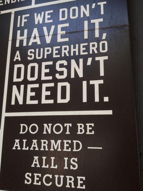 Für Superhelden!