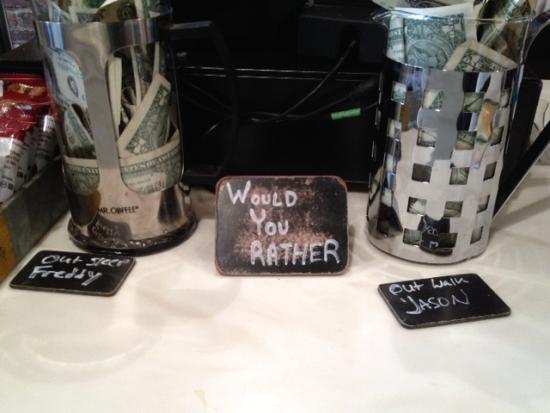 Hier kann man aussuchen, in welchen Tip Jar das Trinkgeld soll