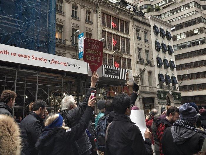Protest gegen Donald Trump in New York