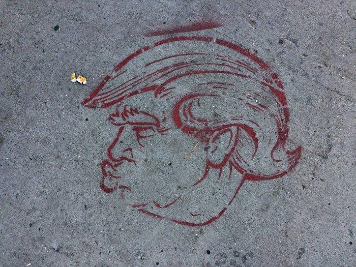 Trump-Graffiti