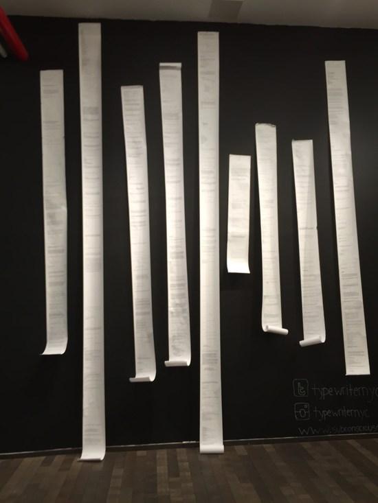 Zettel aus dem Typewriter Project