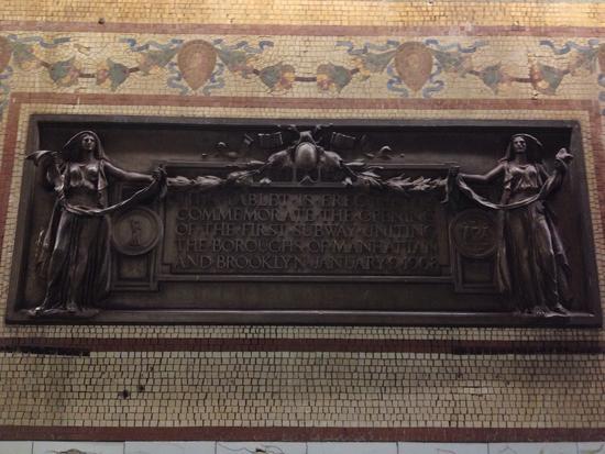 Mosaik in der New Yorker U-Bahn