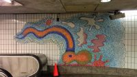 U-Bahn-Kunst Court Square Streaming von Elizabeth Murray