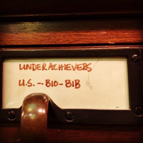 Underachiever Katalog New York Society Library