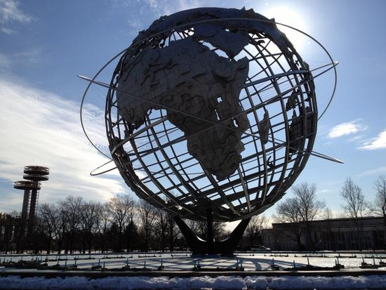 Unisphere mit Man in Black?