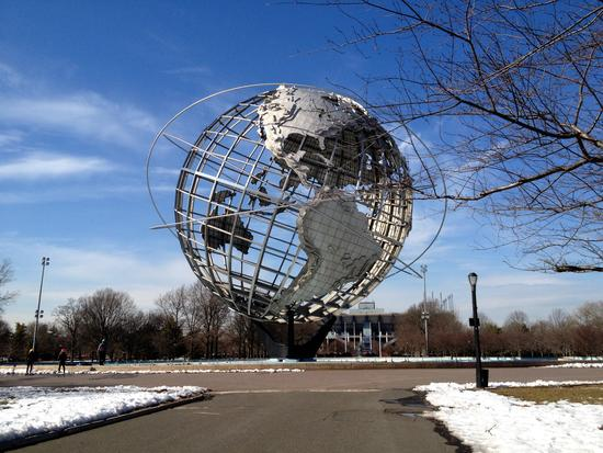 Welt: Unisphere in Queens