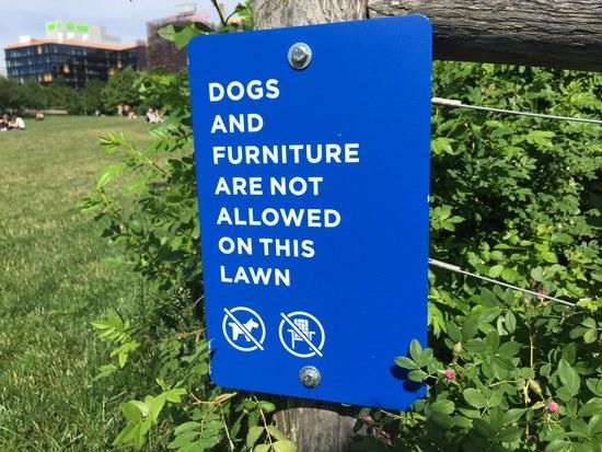 Verboten: Hunde und Möbel