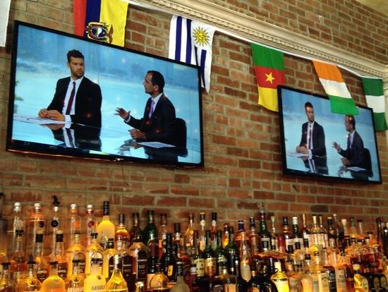 Ballack im Fußballfernseher in New York