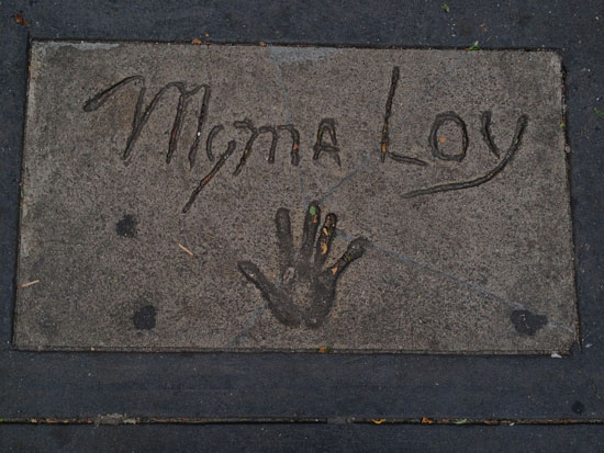 Myrna Loy war in New York!