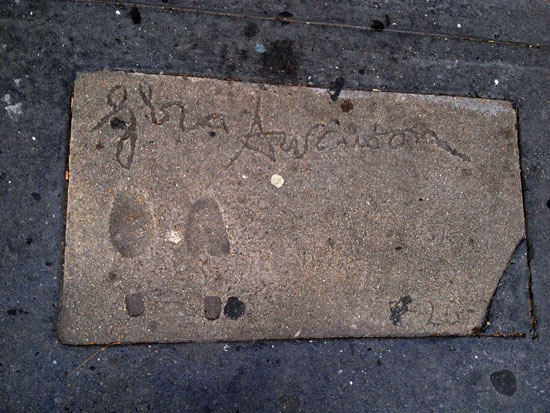 Gloria Swanson am New Yorker Walk of Fame