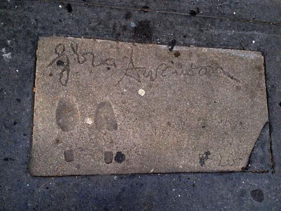Gloria Swanson am New Yorker Walk of Fame