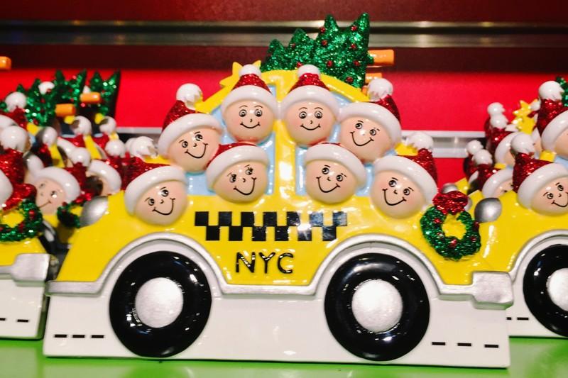 Weihnachten New York Taxi