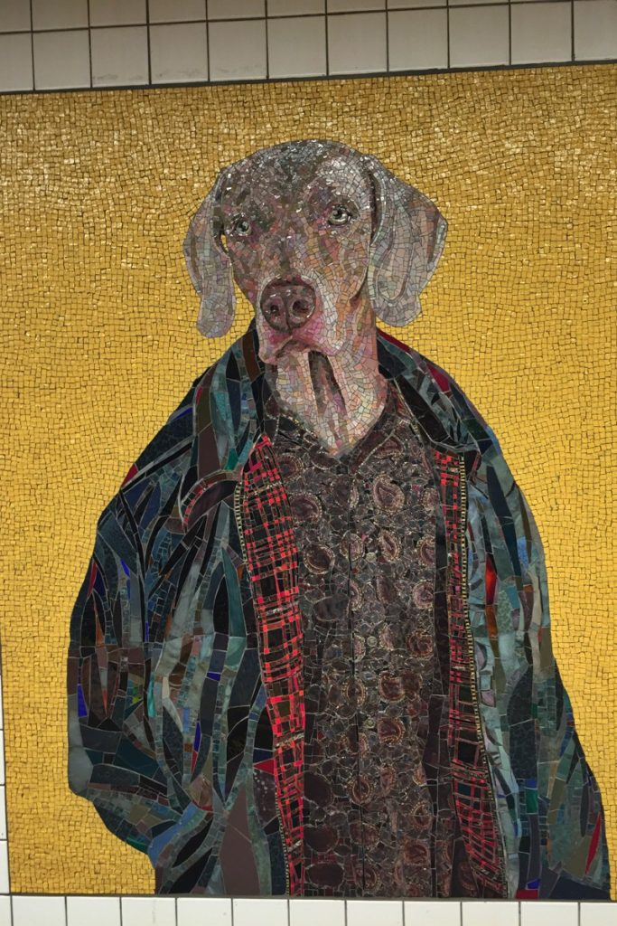 William Wegman U-Bahn-Kunst New York