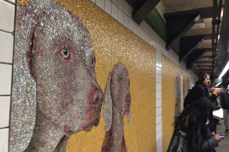 William Wegman U-Bahn-Kunst New York