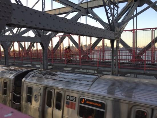 U-Bahn auf der Williamsburg Bridge